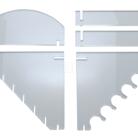 Baladeo PRE007 akrylový stojánek pro 6 nožů - 1
