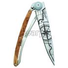 Deejo 1CBG54 titan 37g juniper, ultralehký nůž pro leváky, Terra Incognita - 0