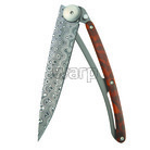 Deejo 1DB008 Exception,damascus,snakewood, 37g - 1