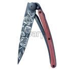 Deejo 1GB137 Black tattoo 37g, coralwood, roses - 1
