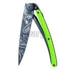 Deejo 1GC203 Composite Tattoo Black,Python 37g, green carbon,Snake