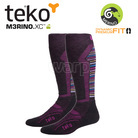 Teko 4733 MERINO.XC Medium Ski women Charcoal/azalea stripe