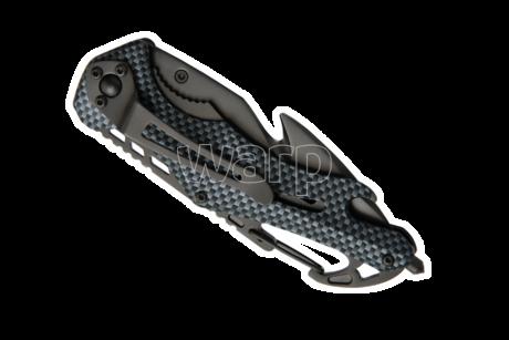 Baladeo ECO202 Emergency záchranářský nůž, imitace karbonu - 3