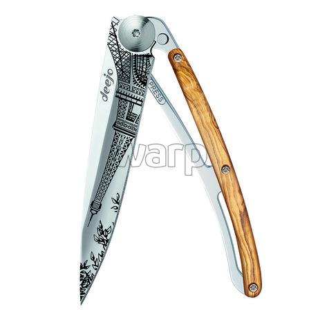 Deejo 1AB101 Tattoo Mirror 37g, olive wood, Eiffel Tower