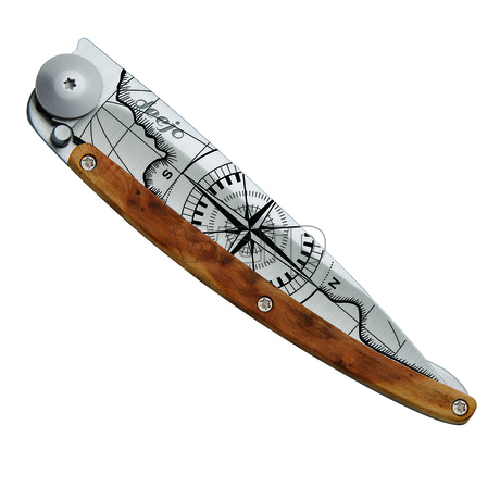 Deejo 1CBG54 titan 37g juniper, ultralehký nůž pro leváky, Terra Incognita - 2