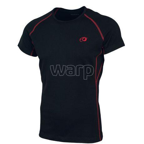 Duras Jana triko krátký rukáv merino černé (rudý šev)