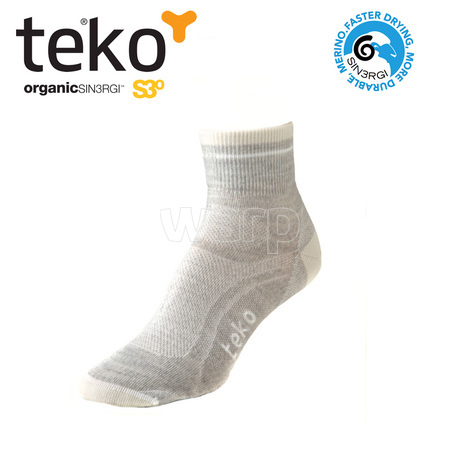 Teko 3355 S3O Ultralight Minicrew women silver heather-natural