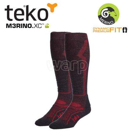 Teko 4702 MERINO.XC Light Ski men Charcoal/red