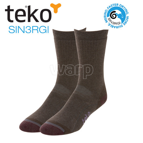 Teko 6643 S3 Midweight Hiking women turkish coffee/maroon