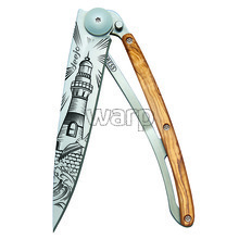 Deejo 1CB060 Tattoo 37g, olive wood, Lighthouse
