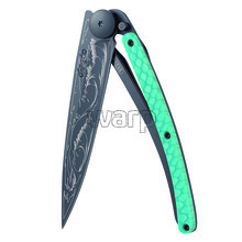 Deejo 1GC202 Composite Tattoo Black,Python 37g, turquoise carbon,Wave