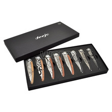 Deejo Tattoo collection with 8 knives
